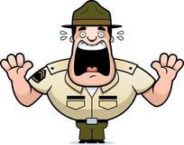 Kreskówka świderu sierżant Okaleczający ilustracja wektor