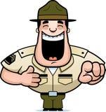 Kreskówka świderu sierżanta Śmiać się royalty ilustracja