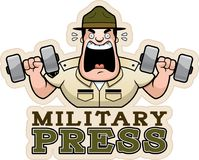 Kreskówka świderu sierżanta Militarna prasa royalty ilustracja