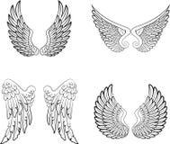 Kreskówka anioł uskrzydla kolekcja set ilustracja wektor