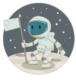Kreskówka astronauta Obraz Stock