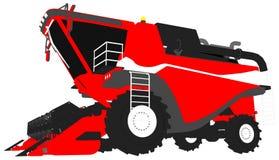 Kreskówka barwiący 3D model ogromny czerwony pszeniczny rolniczy żniwiarz na bielu, klamerki sztuka dla przemysłów spożywczych wi ilustracja wektor