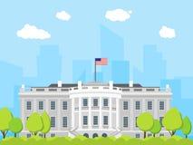 Kreskówka Biały Domowy budynek wektor royalty ilustracja