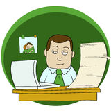 Kreskówka biurowy mężczyzna Zdjęcia Royalty Free
