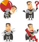 Kreskówka biurowy Super bohater 2 royalty ilustracja