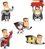 Kreskówka biurowy Super bohater ilustracja wektor