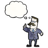 kreskówka biznesmen robi punktowi Obrazy Stock