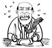 Kreskówka biznesmena czekania rysunku wektor Royalty Ilustracja