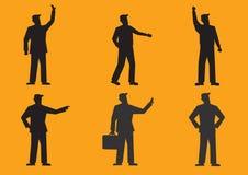 Kreskówka biznesmena sylwetki wektoru ilustracja Fotografia Stock