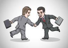 Kreskówka biznesmeni przyćmiewają Zdjęcia Royalty Free