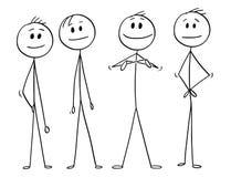 Kreskówka biznesu lider i drużyna ilustracji