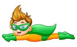Kreskówka bohatera chłopiec latanie royalty ilustracja