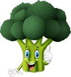 Kreskówka brokuły daje aprobatom ilustracja wektor