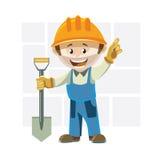 Kreskówka budowniczego mężczyzna ilustracji