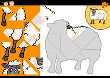Kreskówka cakli łamigłówki rolna gra Obraz Royalty Free