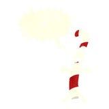 kreskówka cukierku trzcina z mowa bąblem Zdjęcie Royalty Free