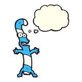 kreskówka cukierku trzcina z myśl bąblem Fotografia Stock