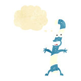 kreskówka cukierku trzcina z myśl bąblem Zdjęcia Royalty Free