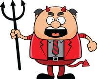 Kreskówka Czarci szef Gniewny Zdjęcia Stock