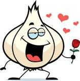 Kreskówka czosnku żarówka w miłości Zdjęcie Stock
