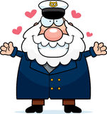 Kreskówka Dennego kapitanu uściśnięcie Obraz Royalty Free