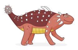 Kreskówka dinosaura ankylosaurus royalty ilustracja