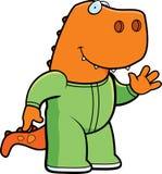 Kreskówka dinosaura piżamy ilustracji