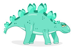 Kreskówka dinosaura stegozaur royalty ilustracja