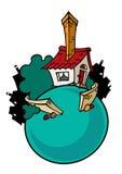 Kreskówka dom Zdjęcia Royalty Free