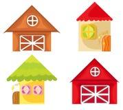 kreskówka domy Fotografia Royalty Free