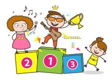 Kreskówka dzieciaka i piosenkarzów odświętności wektoru pojęcie royalty ilustracja