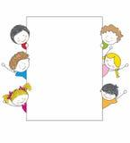 kreskówka dzieciaki śliczni ramowi Zdjęcia Royalty Free