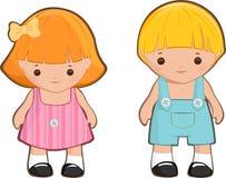 kreskówka dzieciaki Zdjęcia Royalty Free
