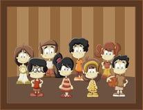 kreskówka dzieciaki Zdjęcie Royalty Free