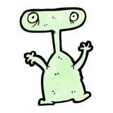 kreskówka dziwny obcy potwór Obrazy Royalty Free