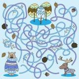 Kreskówka edukacja - gra dla Preschool dzieci wektor ilustracji
