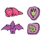 Kreskówka Girly dinosaura Wektorowa ilustracja dla dzieciaków royalty ilustracja