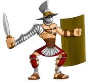 kreskówka gladiator royalty ilustracja