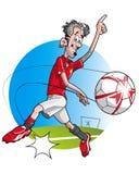 kreskówka gracz futbolu Obraz Royalty Free
