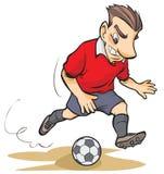 Kreskówka gracz piłki nożnej Obraz Stock