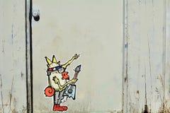 Kreskówka Grafitii i Miastowa sztuka w Portland, Oregon fotografia stock