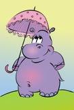 kreskówka hipopotam royalty ilustracja