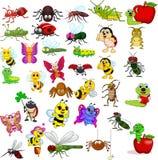 Kreskówka insektów kolekci set ilustracja wektor