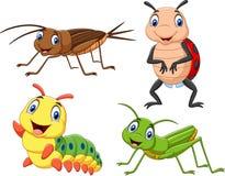 Kreskówka insekta kolekci set royalty ilustracja