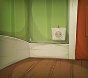 Kreskówka kąt Izbowy zakończenie Obraz Stock
