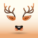 Kreskówka kaganiec jelenia twarz Zdjęcie Royalty Free
