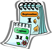 Kreskówka Kalendarz, wektorowa ilustracja royalty ilustracja