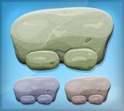 Kreskówka kamienia znak Dla Ui gry royalty ilustracja