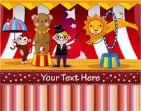 kreskówka karciany cyrk Zdjęcie Royalty Free