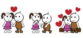 kreskówka kochankowie Zdjęcie Stock